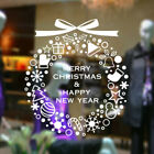 Merry Christmas Gift Wreath Wall Window Stickers Decals Xmas Home Shop Decor Uk