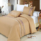 Luxury Modern Classic Cecilia Cotton Embroidered Silky Soft Duvet Cover Set  image