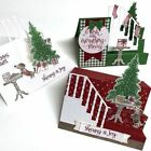 Christmas Tree Decorations Staircase Metal Cutting Dies Stamps For DIY Cards