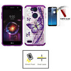 For LG X Charge 2 / LG X Charge / LG Fiesta LTE, Hard Crystal Butterfly Case