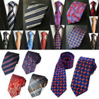 Mens Silk Tie Paisley Striped Checks Floral Necktie Jacquard Party Decor Gift $11.44 CAD on eBay