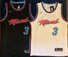 Dwayne Wade #3 Miami Heat Vice Edition Men's Jersey White or Black on eBay