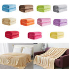 Super Soft Warm Flannel Blanket Thickened Sofa Bedroom Solid Color Throw Rugs image