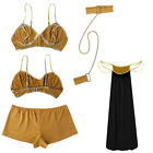Princess Leia Slave Costume Cosplay Adult Lady Uniform Dress Polyester Material