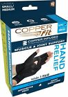 Copper FIT Copper Infused Hand Relief Compression Gloves - Muscle and Joint Supp