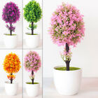 Realistic Artificial Flowers Plant In Pot Outdoor Home Office Decoration Gift Uk