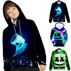 Kids Boys DJ Marshmallow Hooded Hoodie Sweatshirt Pullover Jumper Winter Jacket
