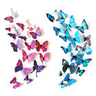 Used, 24 pcs 3D Butterfly Wall Stickers Art Decal Home Room Decorations Decor Kids for sale  Shipping to Nigeria
