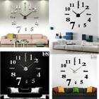 Wall Clock Watch Large Acrylic Modern DIY Sticker Decal 3D Roman Numeral Home