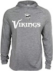 Zubaz NFL Football Men's Minnesota Vikings Tonal Gray Lightweight Hoodie $34.99 USD on eBay