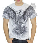 Harley-Davidson Mens Overall Eagle Wings B&S Grey Short Sleeve Biker T-Shirt $14.99 USD on eBay