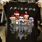FRIENDS Star Wars Cartoon Christmas Reflection T-Shirt funny gifts $19.99 USD on eBay