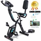 Folding Exercise Bike 3-in-1 Cycle Indoor Stationary Fitness Magnetic Trainer