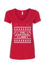 you serious clark womens v neck ugly christmas sweater griswold cousin eddie