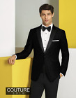 Couture 1910 Black Paisley 1-Button Peak Lapel Ultra Slim Tuxedo Jacket