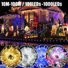 Fairy String Lights 10-1000 LED Clear Cable for Christmas Tree Garden UK Plug In
