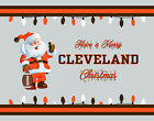 CLEVELAND BROWNS Style CHRISTMAS Photo Picture SANTA CLAUS FAN PRINT 8x10 11x14