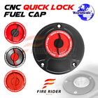 FRW Red CNC Quick Lock Fuel Cap x1 For Ducati 748 All Year 96 97 98 99 00 01 02