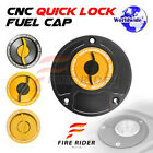 Gold Quick Lock Fuel Cap For Ducati Monster 620 / 695 / Dark All Year