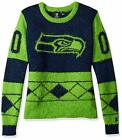FOCO NFL Women's Seattle Seahawks Eyelash Ugly Sweater $34.95 USD on eBay