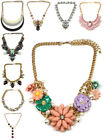 Womens Chunky Necklace Chain Crystal Charm Pendant Fashion Jewellery Gift New