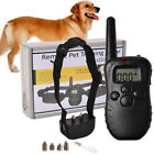Remote Electric Dog Collar Shock Vibration Rechargeable Rainproof LCD Display