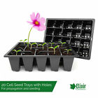 20 Cell Bedding Plant Pack Tray Inserts for Half Size Seed Propagator Trays