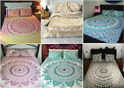 Indian Flat Sheet Mandala Cotton Bedspreads Bohemian Queen Tapestry Bed Cover image