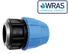 MDPE Plastic Compression Adaptor, Female Thread Fitting PE100 LDPE WRAS Approved
