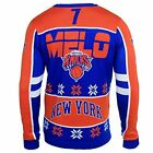 Klew NBA New York Knicks Men's Carmelo Anthony Ugly Sweater, Orange on eBay