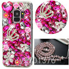 Bling Diamonds Handmade soft Cases back Phone Covers & Crystals strap For Nokia