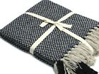 Soft Warm 100% COTTON Throw  50X60 Inches Black and White Colour new   image
