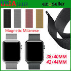 Stainless Steel Magnetic Milanese Loop Band Strap For Apple Watch Series 5 4 3 2 image