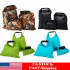 3pcs Waterproof Dry Bag Canoe Floating Boating Kayaking Camping Sack Pouch US