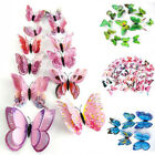12/24 Pcs Diy 3d Butterfly Magnetic Wall Stickers Art Decals Room Home Decor Fad