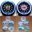 """ROUTE 66 PAINTED DESERT TRADING POST 11"""" Neon Clocks & 2 1/2"""" Round Magnet Sets"""