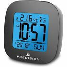 Precision Radio Controlled LCD Digital Alarm Date Temperature Clock High Quality