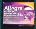 Allegra Allergy Tablets 24 Hour 45 Tablets DIFF EXP DTES AVAILABLE $8.49 USD on eBay