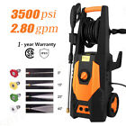 3500PSI 2.8GPM Electric Pressure Washer High Power Auto Water Cleaner Machine.