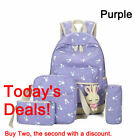4x Backpack Bag Wallet Canvas Travel Bookbags School Bag for Teenage Girls Gifts