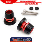 CNC Andoized M8 Swingarm Sliders Spools For Triumph Thruxton 1200R Street Triple $22.6 USD on eBay