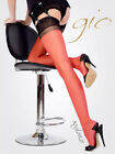 GIO RHT Stockings / Nylons - Red Black Contrast - imperfects NYLONZ