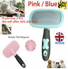Self Cleaning Pet Dog Cat Slicker Brush Comb Grooming For Long Short Hair Pets