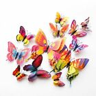New Style 12pcs Double Layer 3d Butterfly Wall Sticker On The Wall Home Decor