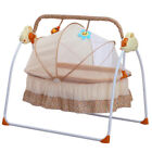 Electric Cradle Baby Swing Infant Bed Cot Crib Rocking Basket Newborn Bassinet