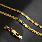 Gold Cool 18 k Gold Plated Hip Hop Necklace Choker Link Chain Metal Collar