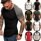 Men Summer Short Sleeve Slim Fit Gym Muscle T-shirt Tees Shirt Top Sports Casual image