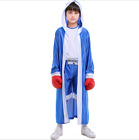RED Boys Kids World Boxing Costume Boxer Fighter Champion Fancy Dress Outfit