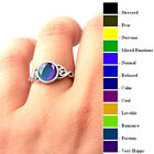 AM_ Magic Stone Mood Ring Adjustable Women Temperature Change Color Oval Jewelry