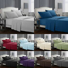 4pcs Bed Sheets Set 1800 Count Plain Solid Wrinkle Free Soft Pocket Bedsheet Set image